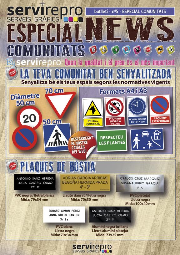 senyalització comunitats plaques retolació