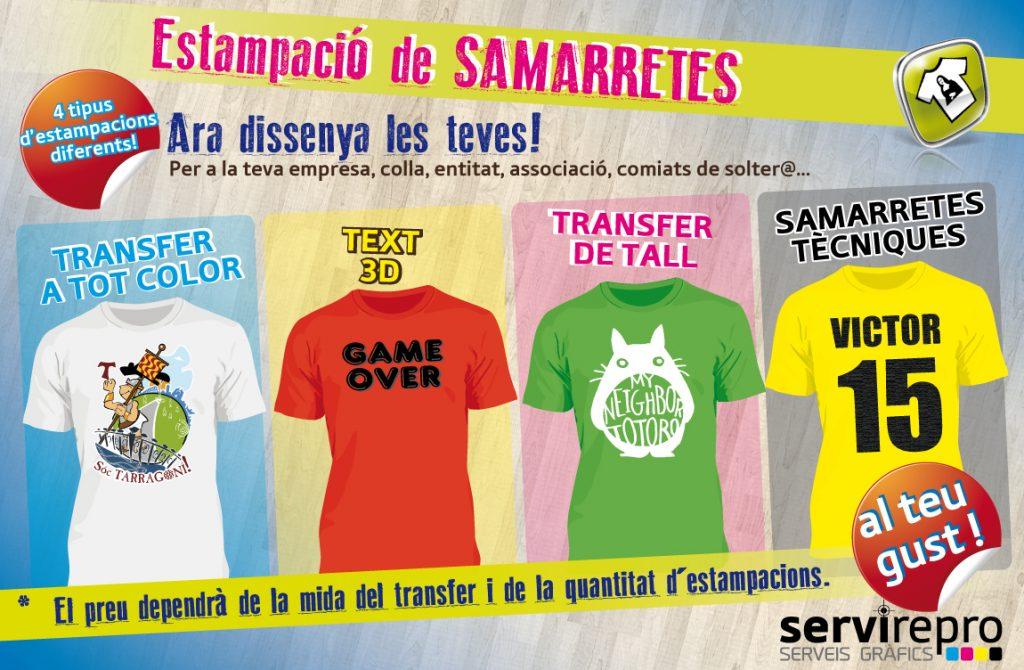 estampació i disseny de samarretes