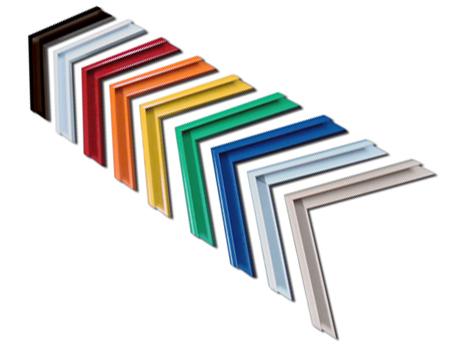marcs de colors d'alumini