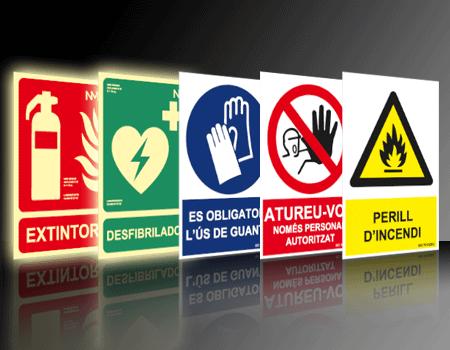 senyalització preventiva riscos laborals