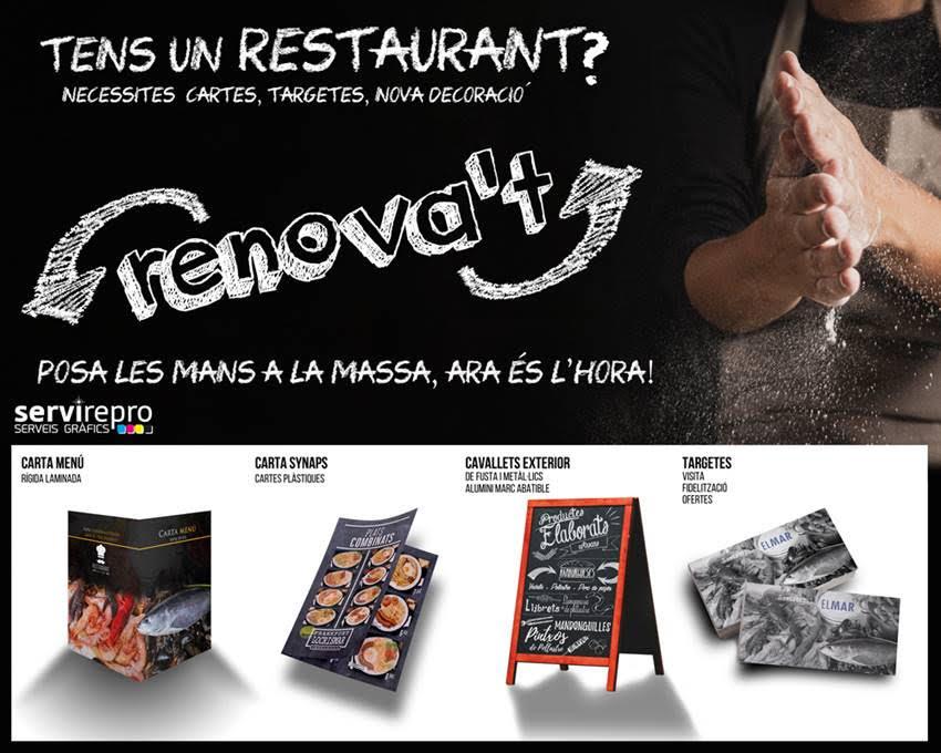 cartelleria disseny restaurant renovació